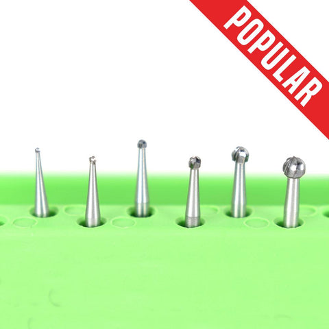 Shop online at Serona.ca for the veterinary dental Brasseler FG Round Burs, which are available for sale in various head sizes & with a shank size of 19 mm.