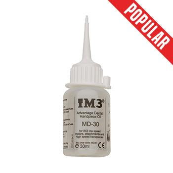 Shop online for the veterinary dental iM3 Advantage Handpiece oil. MD-30 is an all synthetic, non-toxic oil designed for the increased workload of veterinary dentistry.