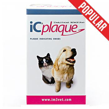 Veterinary dental iC Plaque Disclosing Swabs (72 swabs), which show when plaque is present on the teeth. The applicators are quick and easy to use.