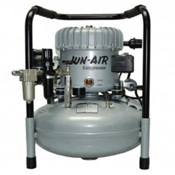Shop online at Serona for the veterinary dental Inovadent JUN-AIR oil-lubricated 1/2 horsepower compressor. Available in a 4 & 6-gallon powder coated tank.