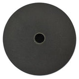 "Veterinary Dental Serona Animal Health Black Rubberized Silicon Carbide (hard) Honing Disc (D shaft), 51mm (2"")."