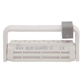 "Shop online at Serona.ca for the veterinary dental Zirc Steri-Bur Guard (many colours). Adjustable height for 12-30mm burs. Dimension: 2-7/8"" x 3/8"" x 1-3/8""."
