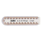 Shop online at Serona for the veterinary dental Zirc EZ ID Ring Pack (25/pkg), which is autoclavable. Available for purchase online in a variety of colours.