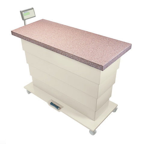 Shop online at Serona for the Olympic Elite Exam Lift Table. This Elite Exam table comes equipped with a non-slip Corian surface and a built-in scale option.