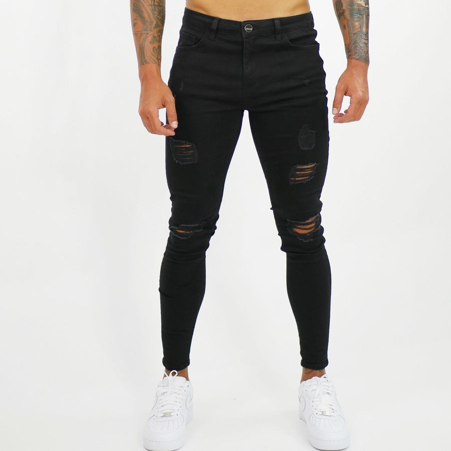 A-life - Black Skinny Jeans for Men - Sarman Fashion - Wholesale Clothing Fashion Brand for Men from Canada