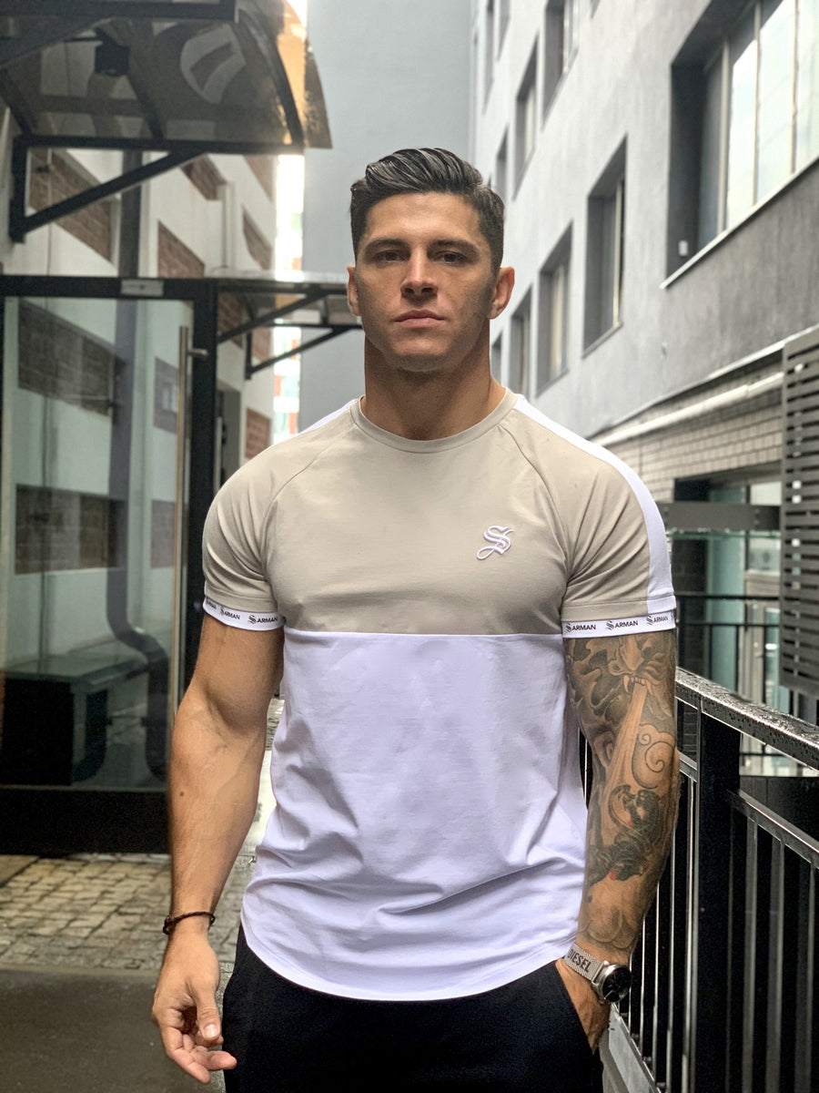 Almighty - White/Grey T-shirt for Men (PRE-ORDER DISPATCH DATE 25 SEPTEMBER) - Sarman Fashion - Wholesale Clothing Fashion Brand for Men from Canada
