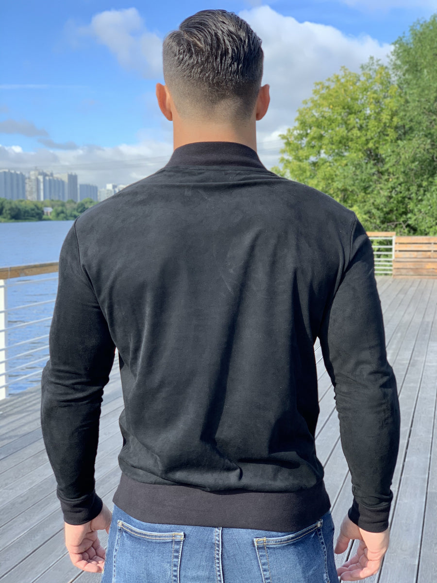 Alpha Male - Black Long Sleeve Sweatshirt for Men (PRE-ORDER DISPATCH DATE 25 SEPTEMBER) - Sarman Fashion - Wholesale Clothing Fashion Brand for Men from Canada