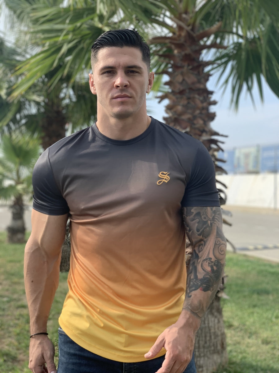 BulletMan- Black/Yellow T-shirt for Men (PRE-ORDER DISPATCH DATE 1 JUIN 2021) - Sarman Fashion - Wholesale Clothing Fashion Brand for Men from Canada
