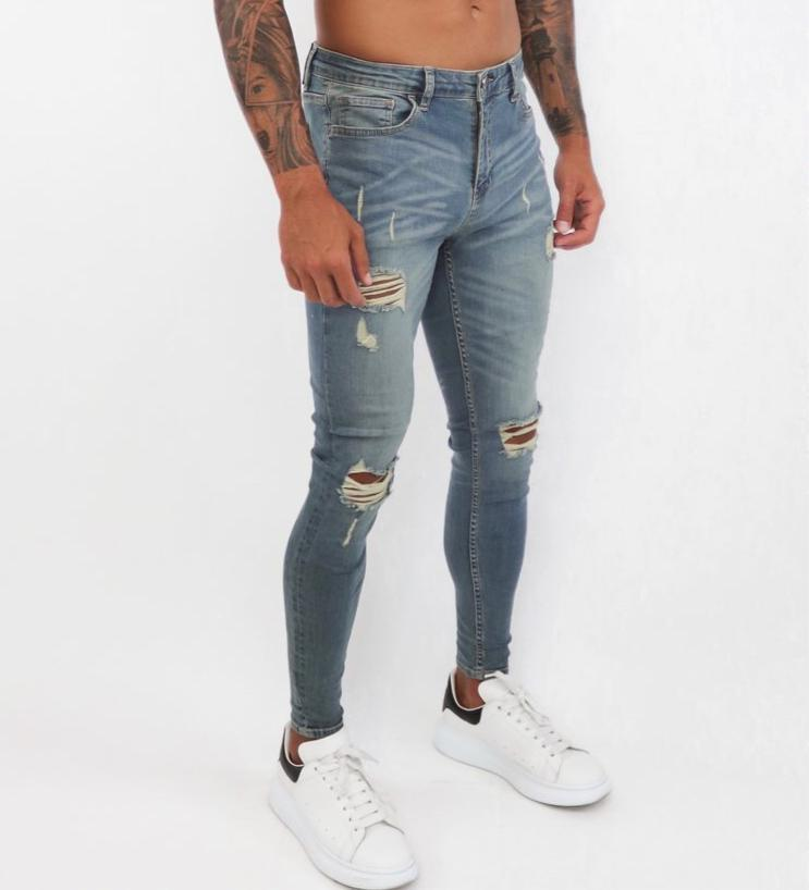 Eternal Mountain - Tint Washed Skinny Jeans for Men (PRE-ORDER DISPATCH DATE 1 NOVEMBER) - Sarman Fashion - Wholesale Clothing Fashion Brand for Men from Canada
