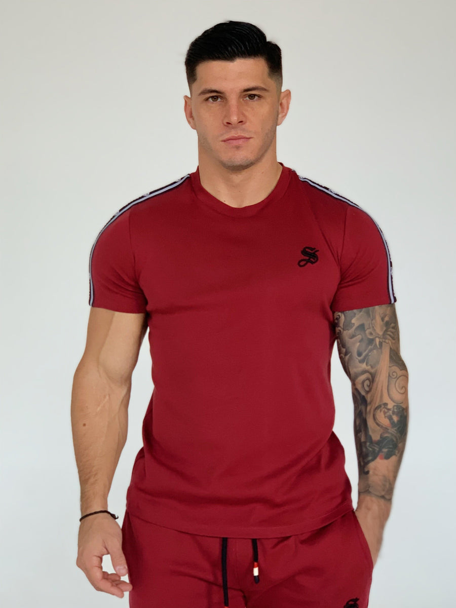 Filly - Burgundy T-shirt for Men (PRE-ORDER DISPATCH DATE 1 JUIN 2021) - Sarman Fashion - Wholesale Clothing Fashion Brand for Men from Canada