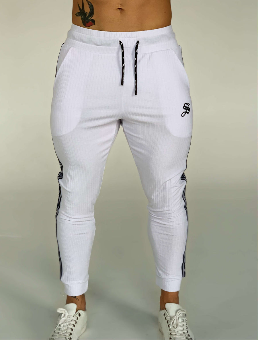 FlyBall - White Joggers for Men (PRE-ORDER DISPATCH DATE 1 JUIN 2021) - Sarman Fashion - Wholesale Clothing Fashion Brand for Men from Canada