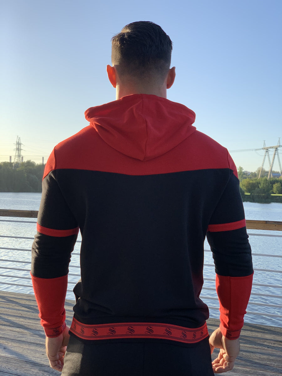 Futurity - Black/Red Hoodie for Men (PRE-ORDER DISPATCH DATE 1 JUIN 2021) - Sarman Fashion - Wholesale Clothing Fashion Brand for Men from Canada
