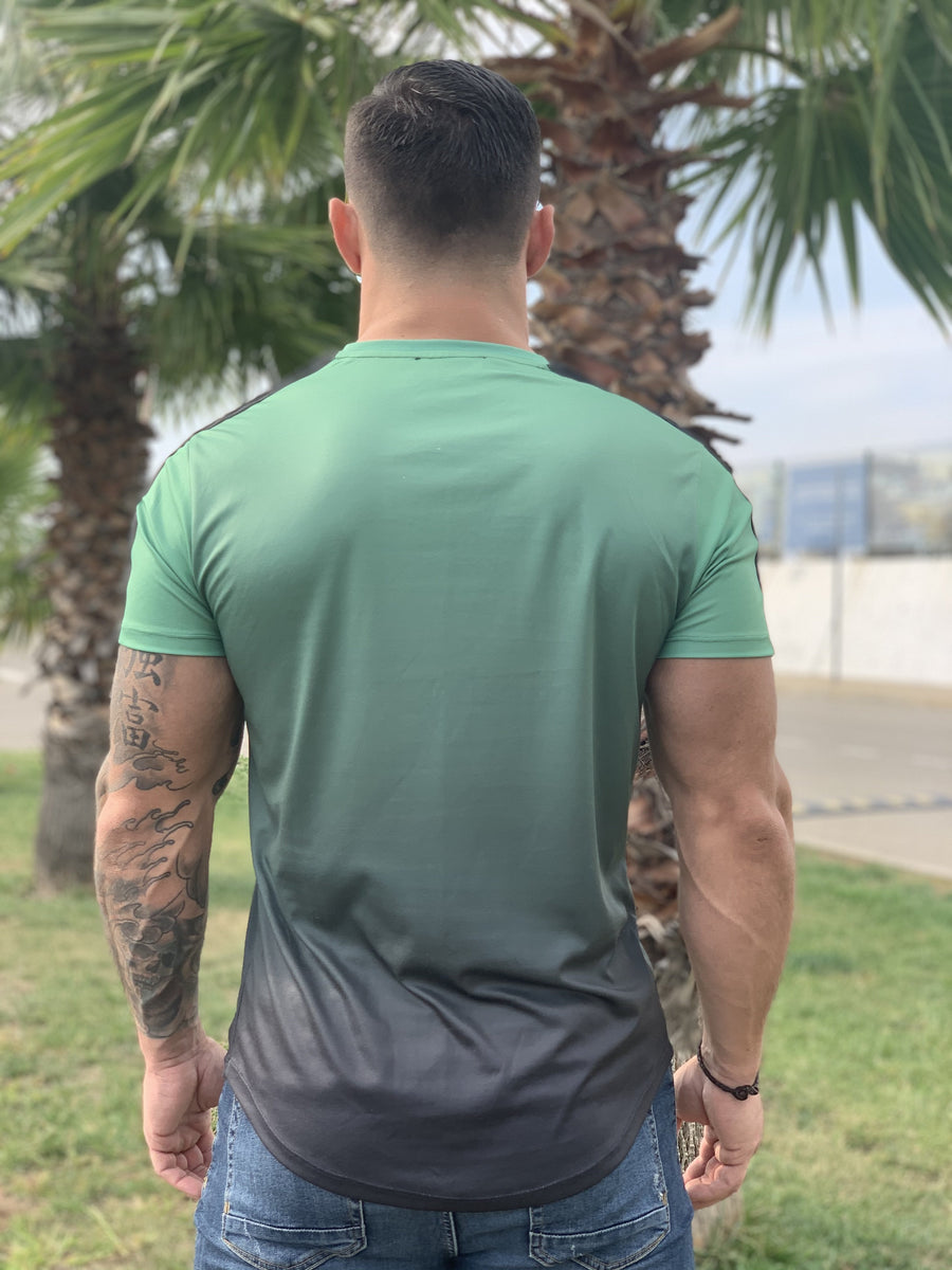Lizard - Khaki Green/Black T-shirt for Men (PRE-ORDER DISPATCH DATE 1 JUIN 2021) - Sarman Fashion - Wholesale Clothing Fashion Brand for Men from Canada
