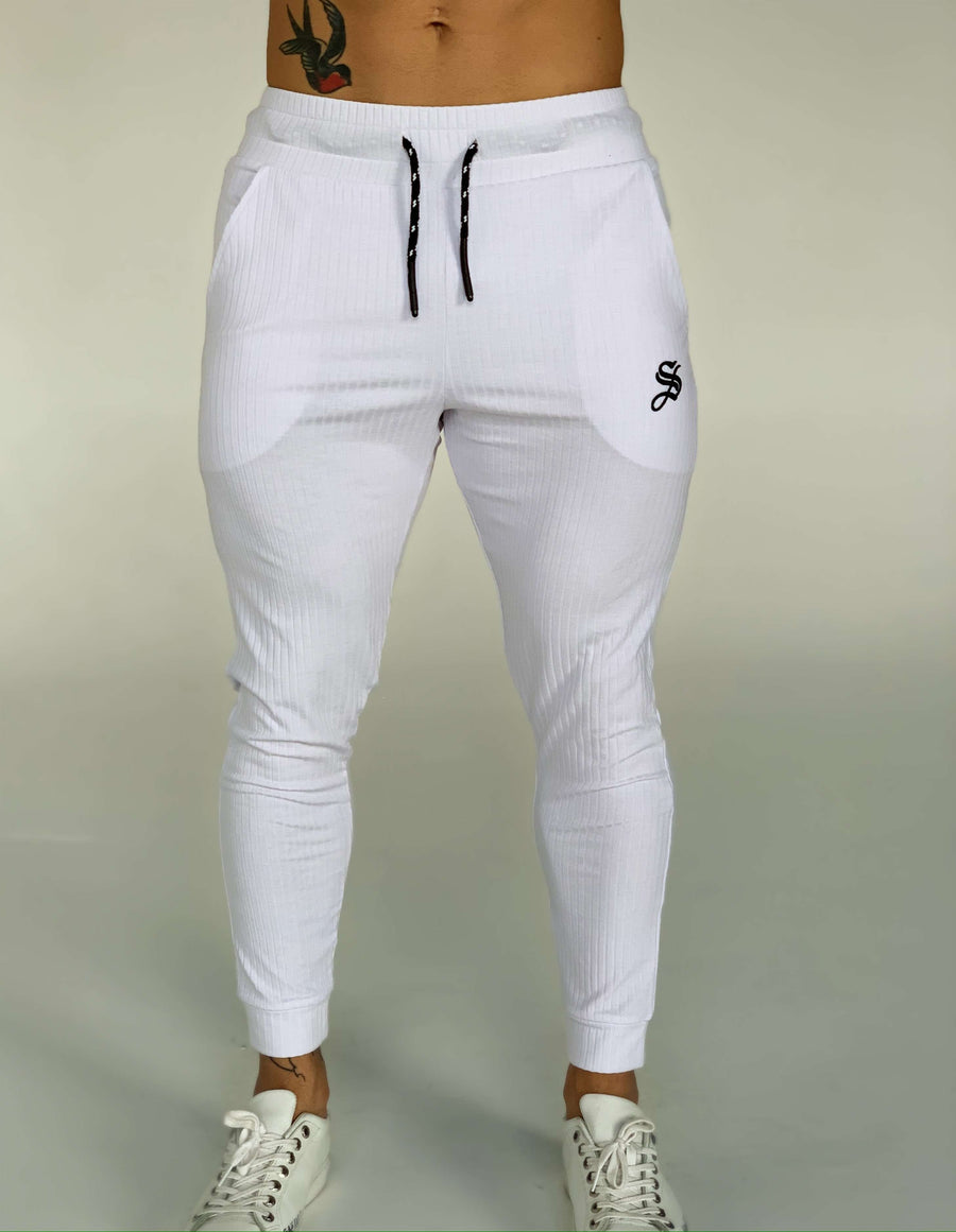Mendoza - White Joggers for Men (PRE-ORDER DISPATCH DATE 1 JUIN 2021) - Sarman Fashion - Wholesale Clothing Fashion Brand for Men from Canada