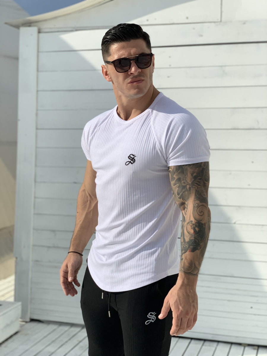 One Half - White T-shirt for Men (PRE-ORDER DISPATCH DATE 1 JUIN 2021) - Sarman Fashion - Wholesale Clothing Fashion Brand for Men from Canada