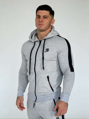 Prang - Grey Track Top for Men (PRE-ORDER DISPATCH DATE 1 JUIN 2021) - Sarman Fashion - Wholesale Clothing Fashion Brand for Men from Canada