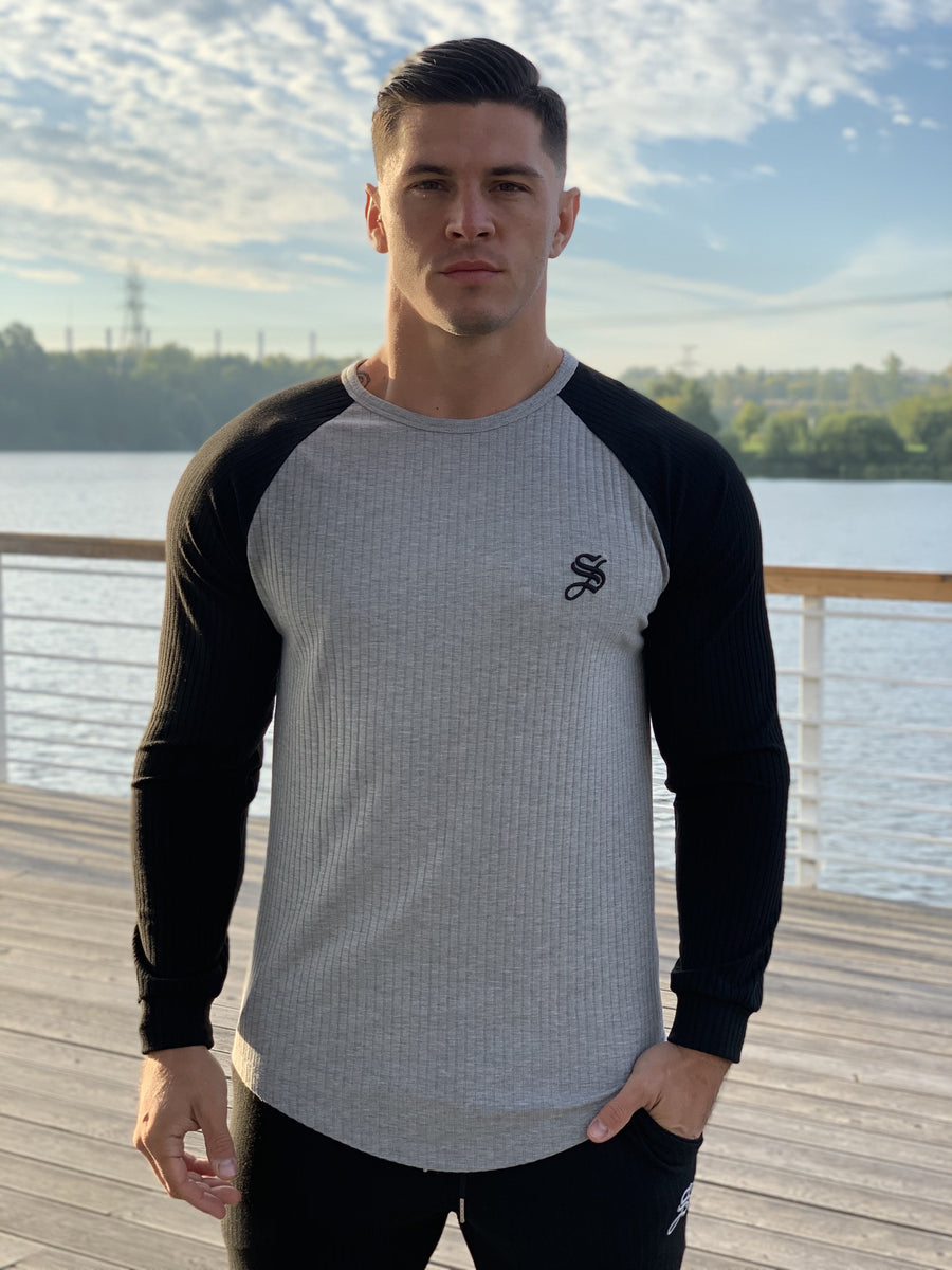 Resonance - Grey/Black Long Sleeve Shirt for Men (PRE-ORDER DISPATCH DATE 25 SEPTEMBER) - Sarman Fashion - Wholesale Clothing Fashion Brand for Men from Canada