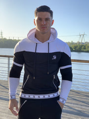 Space - Black/White Hoodie for Men (PRE-ORDER DISPATCH DATE 1 JUIN 2021) - Sarman Fashion - Wholesale Clothing Fashion Brand for Men from Canada