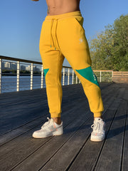 SunUP - Yellow Joggers for Men (PRE-ORDER DISPATCH DATE 1 JUIN 2021) - Sarman Fashion - Wholesale Clothing Fashion Brand for Men from Canada