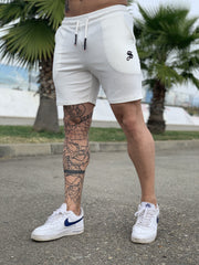 White Warrior - White Shorts for Men (PRE-ORDER DISPATCH DATE 1 JUIN 2021) - Sarman Fashion - Wholesale Clothing Fashion Brand for Men from Canada