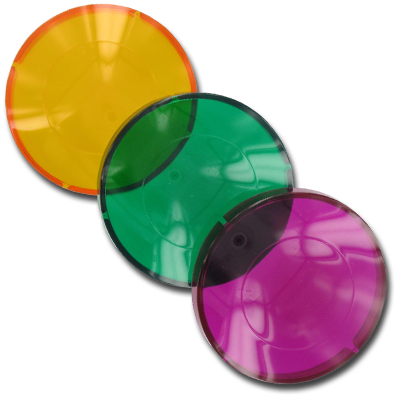 Dimension One Light Lens Pack (Amber, Green, Purple) - 01512-70