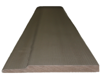 HotSpring Spa Cool Gray Flat Slat Horizontal Siding 4.5""