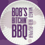 Bob's Bitchin' BBQ - Mango Red Pepper sauce - bottle label