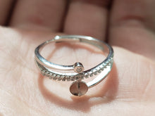 Load image into Gallery viewer, Silver Adjustable Ring for Pearl