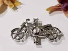 Load image into Gallery viewer, Silver Motorcycle Pearl Cage