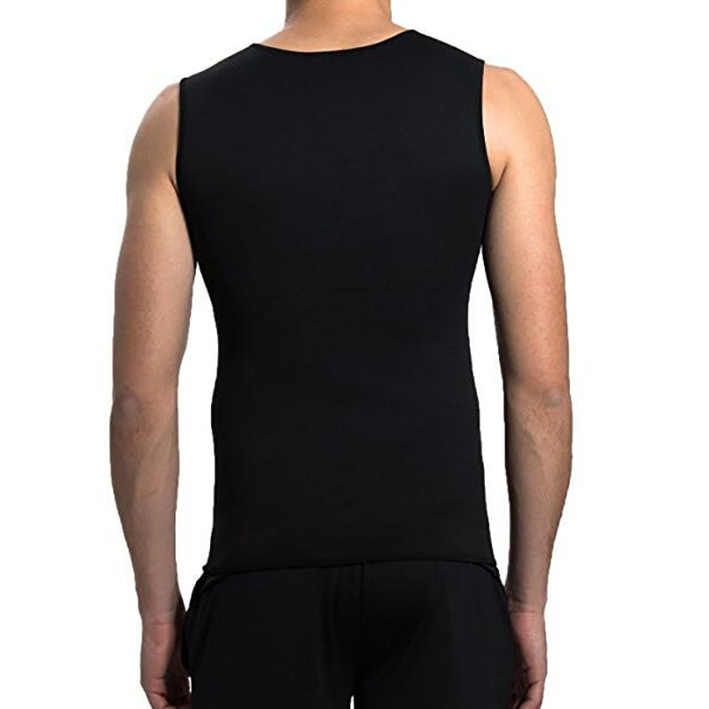 Men's Tummy Burner Weight Body Shaper Slimming Shirt Sweat Vest