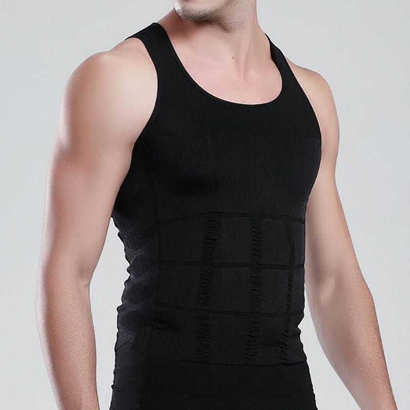 Men's Body Shaper Slimming Shirt Tummy Waist Vest