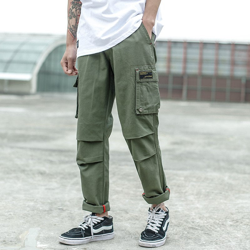 Men Jeans Casual Pants High Street Youth Style Jogger Pants Balplein Brand Loose Fit Jeans Men Cargo Pants