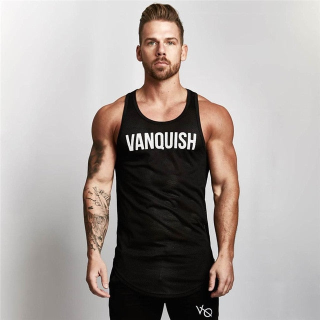 Summer Fitness Men Tank Top Mens Bodybuilding Stringers Tank Tops Singlet Brand Clothing men Sleeveless Shirt