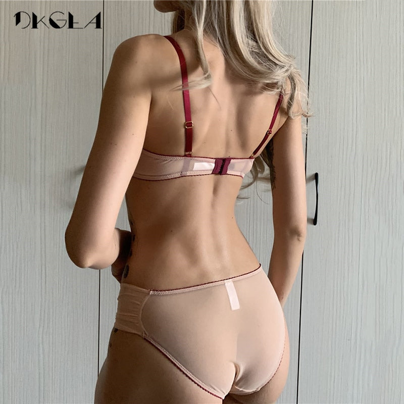 Palace Tassel Bra Set Push up Thick Cotton Brassiere Embroider Lingerie Set Lace Sexy Bras Women Underwear Set