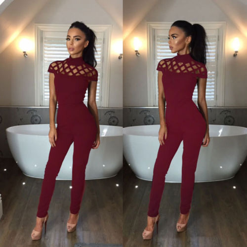 New Arrivals Fashion Women Casual Short Sleeve Jumpsuits Bodysuit Romper Jumpsuit Long Pants