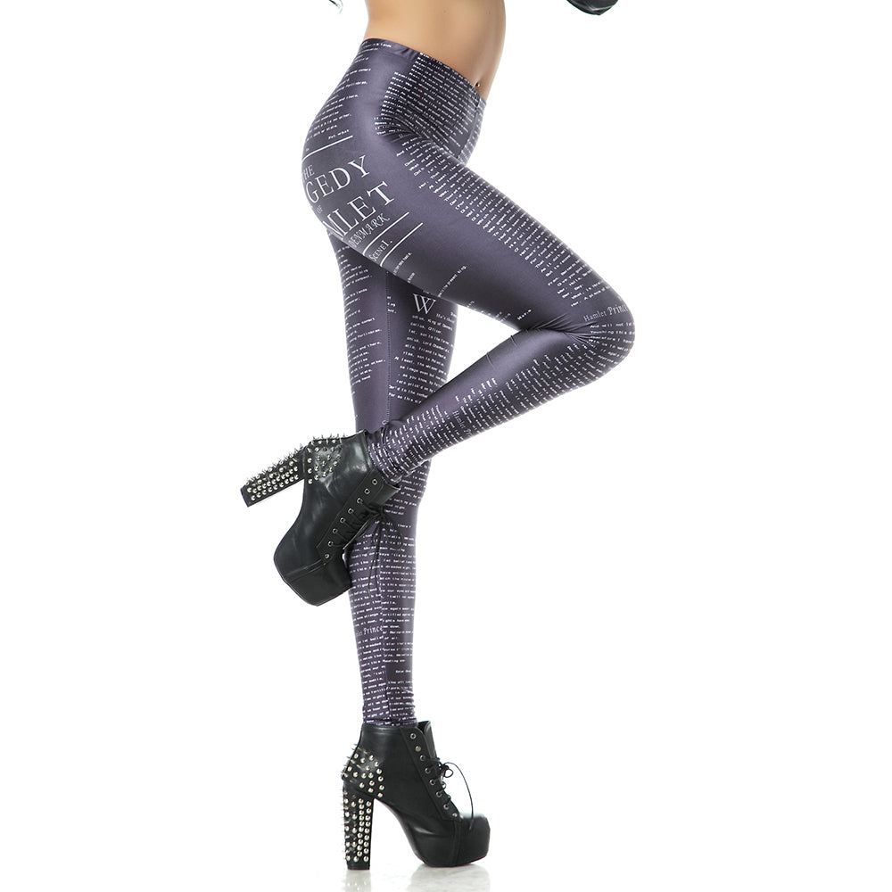 High Waist Legins Music Note Sheet Digital Leggins Printed Women Fitness Leggings Women Pants
