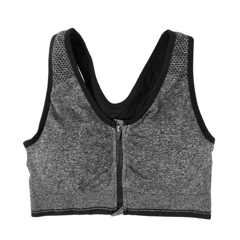 7 Colors Women Zipper Push Up Sports Bras,Padded Wirefree Shockproof Gym Fitness Athletic Running Yoga Vest Sports Tops-in Sports Bras