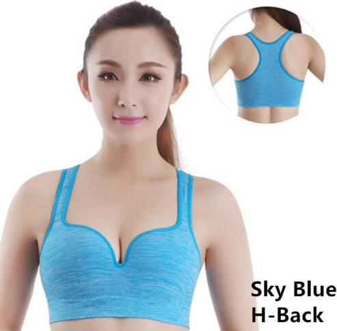 8 Colors Women Yoga Shirts,S-XL Push Up Padded Wire Free Shakeproof Running Athletic Gym Fitness Sports Bras Tops