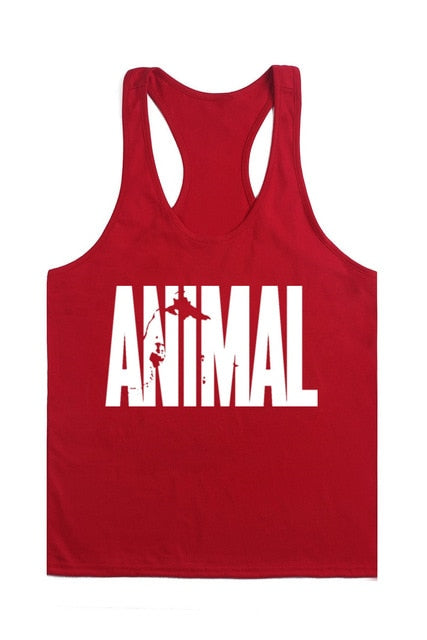 Animal Stringers Mens Tank Tops Sleeveless Shirt,tanktops Bodybuilding and Fitness Men's Singlets workout Clothes
