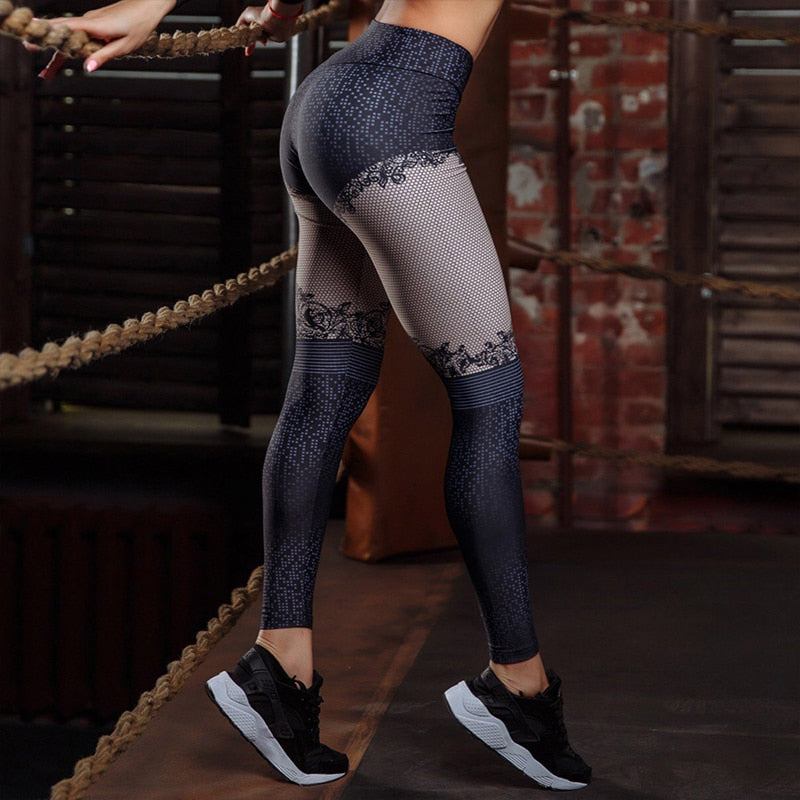 Women 3D Digital Printed Leggings Female Activewear Fitness Legging Pants High Waist Push Up Leggins Jeggings