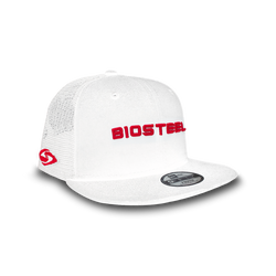 BioSteel New Era Youth White Mesh Snapback