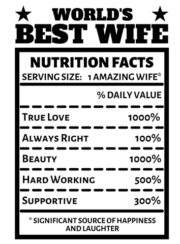 Wife Nutrition Facts Image