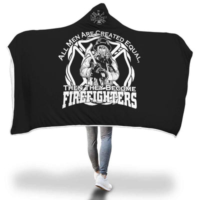 Personalized Firefighter Not Average Hooded Blanket