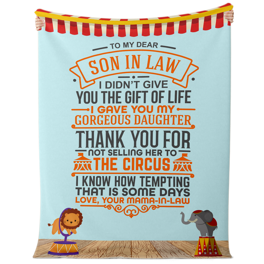 To My Son-In-Law - Premium Sherpa Throw Blanket