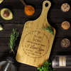 "Mum To Son - ""I Believe In You"" Large Engraved Cutting & Serving Board"