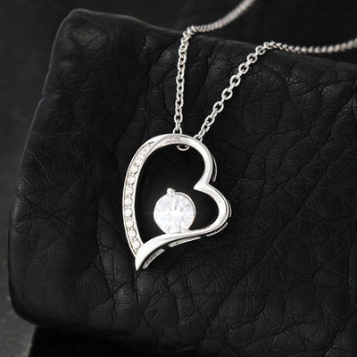 "Mom To Daughter - ""Together Forever"" Forever Love 3D Heart Necklace"
