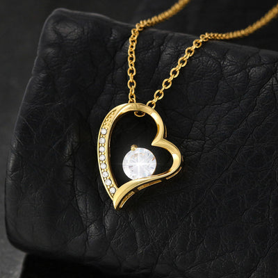 "Mom To Daughter - ""You Are Braver"" Forever Love 3D Heart Necklace"
