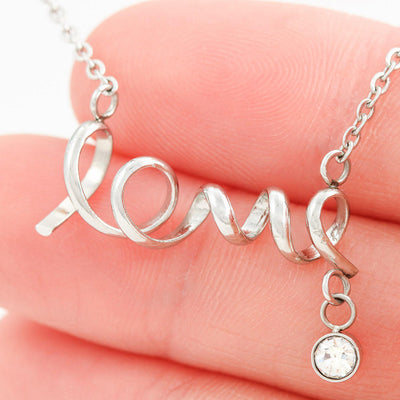 "Dad To Daughter - ""Never Forget"" Love Script 3D Necklace"