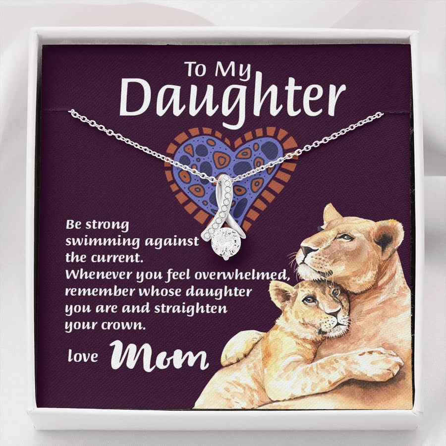 "Mom To Daughter - ""Remember Whose Daughter"" Alluring Beauty 3D Necklace"