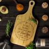 "Dad To Son - ""I Believe In You"" Engraved Cutting & Serving Board"
